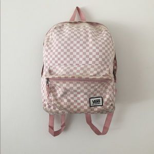 Vans Pink Checkered Backpack